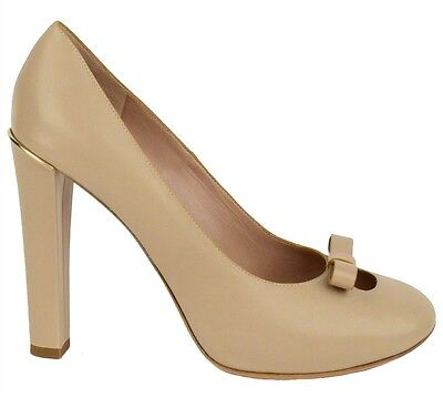 $695 CHLOE SHOES BOW DETAIL BEIGE LEATHER PUMPS HIGH HEEL sizes 40.5, 41 Bow Detail Pump