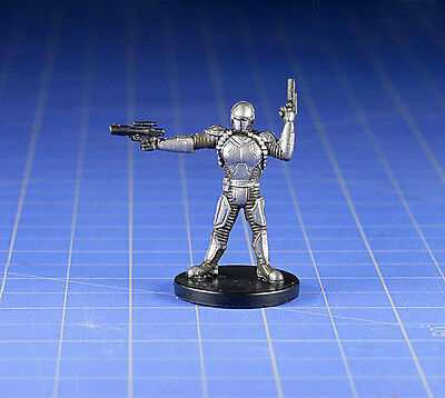 WOTC Star Wars Bounty Hunters miniature Mandalorian Soldier #58 NM with Card