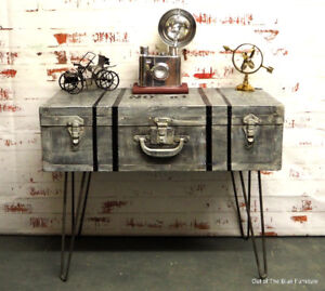 Industrial coffee table trunk table