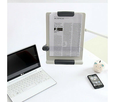 Desk Mount Flexible Arm Copy Holder Book Document Paper Reading Stand Protable