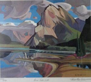 Lithographie Paul Tex Lecor en couleurs signée par l'artiste