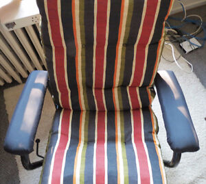 Reclining rocker/glider chair with footstool Kingston Kingston Area image 2