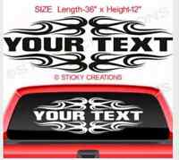 Decals & sticker custom & personalized car truck business home