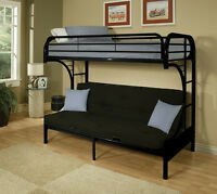 Black Futon bunkbed in extremely good condition