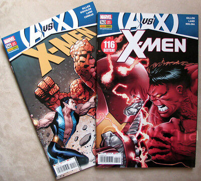 Dc Comics Superhelden (X-MEN Band 143 + 144 MARVEL Panini COMICS Superhelden DC Sammlung SELTEN w. Neu!)