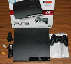 Mint PS3 Slim 160GB w/ 5 Games - Priced to sell!