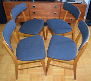 Mid Century Modern Teak Dining Chairs – Set of 4
