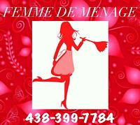 JEUNE FEMME DE MÉNAGE!!!MONTRÉAL ET SES ENVIRONS!!!