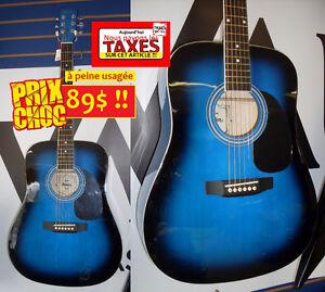 PAS DE TAXES Guitare acoustique COMME NEUVE blueburst AUBAINE