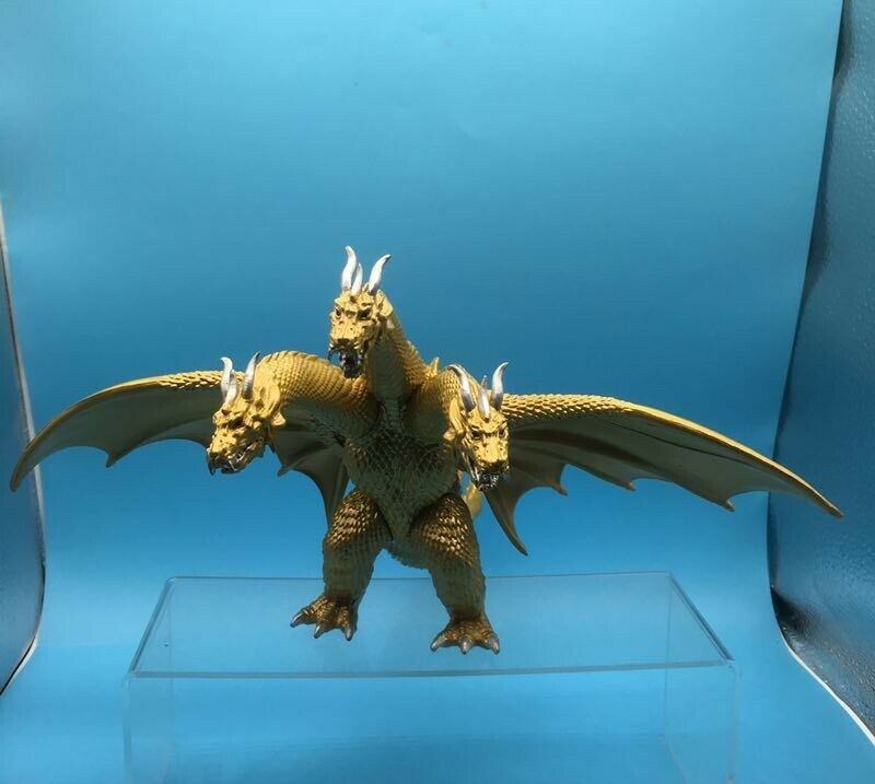 Godzilla Movie King of the Monster Ghidorah 3 Head Gold Dragon Toy Action Figure Godzilla