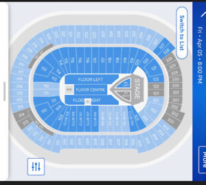 Pink Tickets (2) April 5 Vancouver for sale great seats