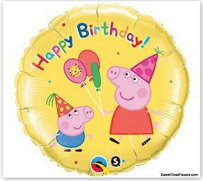 PEPPA PIG Party FAVOR Birthday Mylar BALLOON Decoration Treats Supplies Piggy NW (Peppa Birthday)