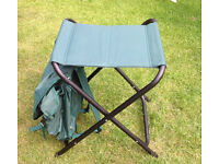 Combined rucksack and folding stool