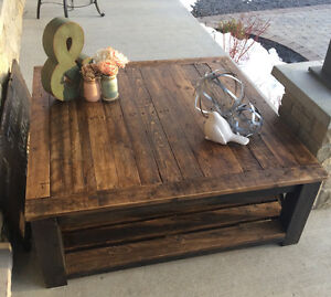 Rustic Country Chic Coffee tables with matching side tables Kingston Kingston Area image 2