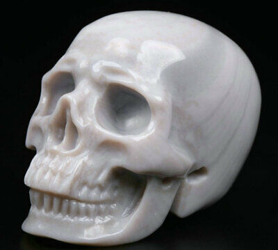 """2.0"""" Agate Carved Crystal Skull, Realistic, Crystal Healing"""