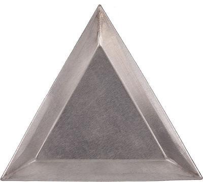 6 Aluminum Triangle Bead Sort Trays/Scoops