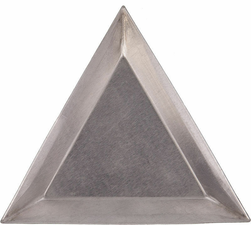 6 Aluminum Triangle Bead Sort Trays/Scoops