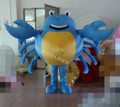 Blue Crab Mascot Costume Suits Cosplay Party Game Outfits Adults Halloween US - Halloween Party Description