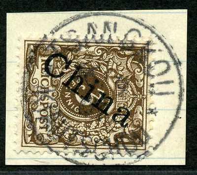 Kiautschou M 1 II a  Briefstück  Tsangkou