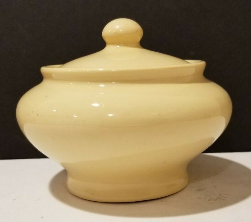 Buffalo China COLORIDO WARE  Sugar Bowl w/ Lid  1930