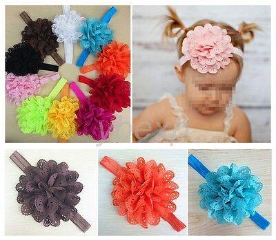 10pcs Wholesale Flower  Baby  Girl Headband Hair Bow Band