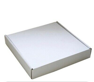 Postal Brownie/biscuit/ Mail Boxes (10 Pack) White 24x24x4cm
