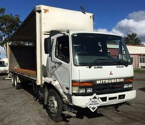 2002 Mitsubishi FM 6X2 Curtainsider Heatherbrae Port Stephens Area Preview