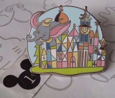 Dumbo Small World Retro Mystery Disney Pin Disneyland Happiest Place on Earth