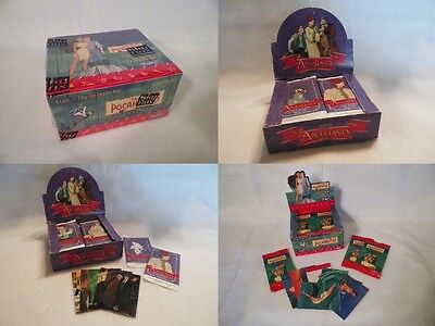 Disney 3 Box Set Unopened Pack Box Pocahontas and 2 Anastasia Disney box Lot Set