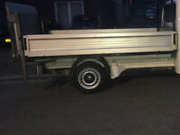VW TRANSPORTER T5 ALUMINUM PICKUP BODY & SLIM JIM TAIL LIFT, ONLY THE BODY IS FOR SALE NOT THE VAN
