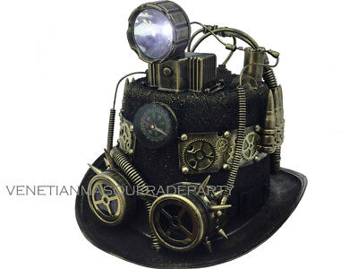 Steampunk Top Hat Time Travel Spot Flash Light Halloween Costume Party - Halloween Party Time