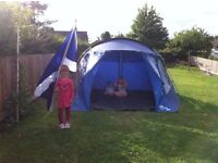 Large 2 separated spaces 4 man tent