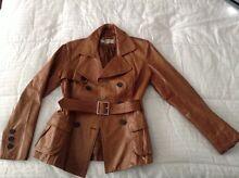Karen Millen leather jacket brown sz 10 EU sz 38 M brandy colour Ashburton Boroondara Area Preview