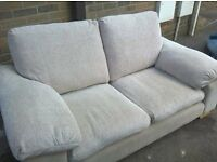 3 and 2 seater sofa's neutral colour fabric