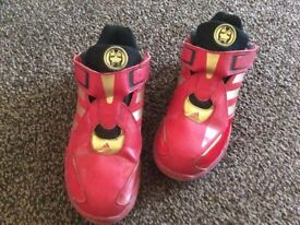red adidas iron man trainers uk13.5