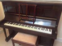 Dark wood Arthur Allison & Co upright piano