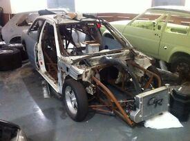 Evo 3 Drag Car with Chevy V8