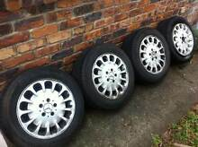 MERCEDES E-SERIES FACTORY 16INCH ALLOY WHEELS AND TYRES! Carina Brisbane South East Preview
