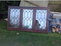 Double glazed real wood window