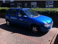 Vauxhall Corsa 1998 1.4 5 Door Blue Only 84k Miles