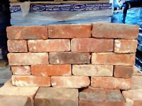 GENUINE RECLAIMED 70MM RED STOCK BRICKS.