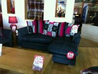 Corner sofa in grey