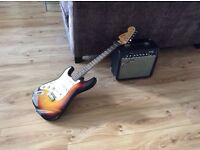 Guitar for sale - Fender Squier Strat and Fender Frontman 15R amp
