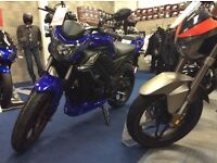 AJS R7 125 sports bike, learner legal 125cc commuter, naked sports tourer, brand new