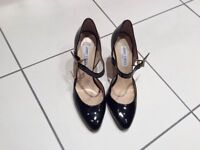 Black patent leather Jimmy Choos, size 5 and a half