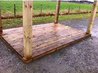 Garden shelter , decking area , hot tub shelter , bbq stand , gazebos