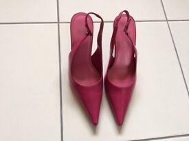 Dark pink slingback heels, size 5