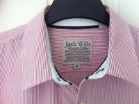 Jack Wills medium red / white striped formal shirt