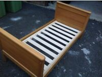 Mamas and Papas matching cot bed, wardrobe, drawers with baby changing top and 2 tier shelf