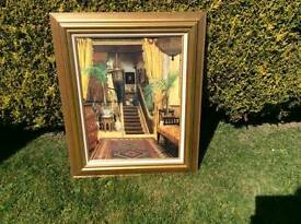 Vintage Gold Frame Wall Art Picture